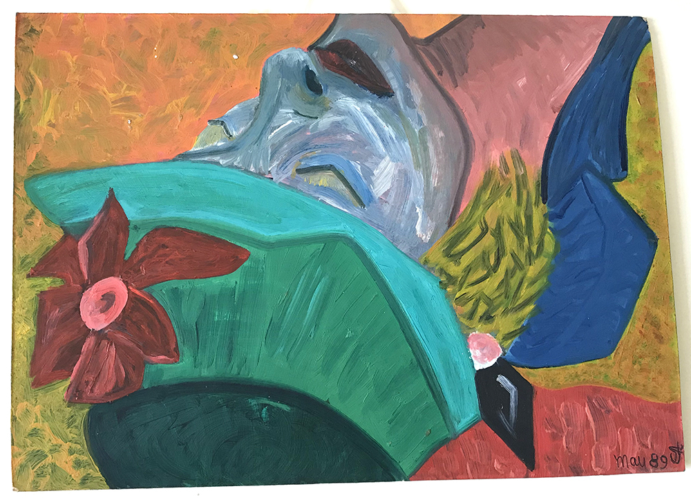 painting 'upsidedown'